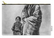 Native American Squaw And Child Carry-all Pouch