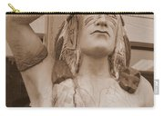 Native American Statue In Toppenish Carry-all Pouch
