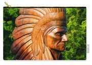 Native American Statue Carry-all Pouch