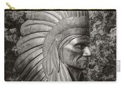 Native American Statue Monochrome Carry-all Pouch