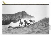 Native Hawaiians Surfing Carry-all Pouch