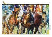 Native Raiser - Palette Knife Oil Painting On Canvas By Leonid Afremov Carry-all Pouch