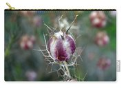 Natural Background With Purple Spiky Bulbs. Carry-all Pouch