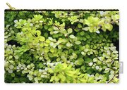 Natural Background With Small Yellow Green Leaves. Carry-all Pouch