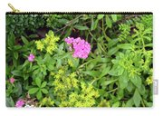 Natural Background With Vegetation And Purple Flowers. Carry-all Pouch