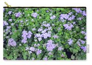 Natural Bush With Purple Small Flowers. Carry-all Pouch