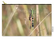 Natural Canvas With Dragonfly Carry-all Pouch