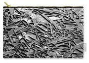 Natural Geometry Black And White Carry-all Pouch