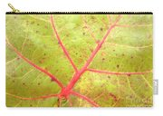 Nature Abstract Sea Grape Leaf Carry-all Pouch