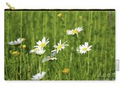 Nature Spring Scene White Wild Flowers Carry-all Pouch