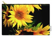 Natures Sunflower Bouquet Carry-all Pouch