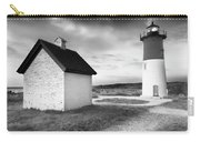 Nauset Light - Black And White Lighthouse Carry-all Pouch