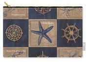 Nautical Burlap Carry-all Pouch