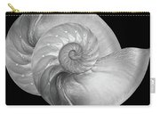 Nautilus Pair In Mono - Horizontal Carry-all Pouch