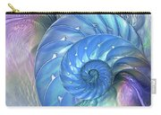 Nautilus Shells Blue And Purple Carry-all Pouch by Gill Billington