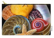Nautilus With Sea Shells Carry-all Pouch