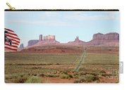 Navajo Flag At Monument Valley Carry-all Pouch