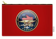 Naval Special Warfare Development Group - D E V G R U - Emblem On Red Carry-all Pouch
