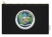 Naval Special Warfare Group Three - Nswg-3 - On Black Carry-all Pouch