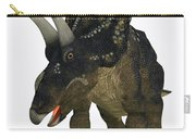 Nedoceratops On White Carry-all Pouch