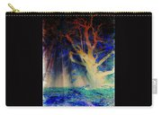 Negative Tree And Sunbeams Carry-all Pouch
