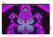 Neon Butterflies And Rainbow Fractal 137 Carry-all Pouch