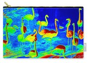 Neon Flamingos Carry-all Pouch