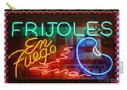 Neon Frijoles And Peppers And Gas Carry-all Pouch