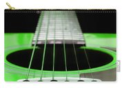 Neon Green Guitar 18 Carry-all Pouch