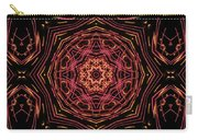 Neon Pink Art Deco Star Carry-all Pouch