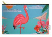Neon Island Flamingo Carry-all Pouch