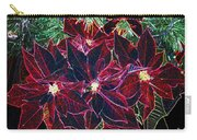 Neon Poinsettias Carry-all Pouch