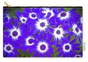 Neon Purple Cineraria Carry-all Pouch