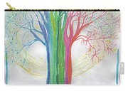 Neon Rainbow Tree By Jrr Carry-all Pouch