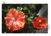 Neon-red Hibiscus Flowers 6-17 Carry-all Pouch