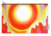 Neon Red Sky And Sea Carry-all Pouch