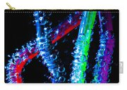 Neon Sparkling Straws Carry-all Pouch by Marc Garrido