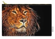 Neon Strong Proud Lion On Black Carry-all Pouch