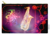 Neons Saxaphone Carry-all Pouch