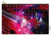 Neons Violin With Roses With Space Effect Carry-all Pouch