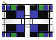 Neoplasticism Symmetrical Pattern In Sapphire Blue Carry-all Pouch