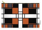 Neoplasticism Symmetrical Pattern In Tijuna Gamboge Carry-all Pouch