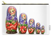 Nesting Doll Poppies Carry-all Pouch