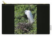 Nesting Great Egret With Egg Carry-all Pouch