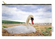 Nesting Mute Swan At Abbotsbury - Impressions Carry-all Pouch