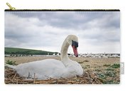 Nesting Mute Swan At Abbotsbury Carry-all Pouch