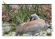 Nesting Sandhill Crane Pair Carry-all Pouch by Carol Groenen