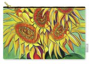 Never Enough Sunflowers Carry-all Pouch by Andrea Folts