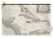 New And Accurate Map Of The West Indies Carry-all Pouch by American School