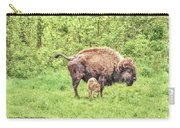 New Born Bison Carry-all Pouch